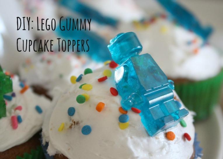 DIY Lego Gummy Cupcake Toppers