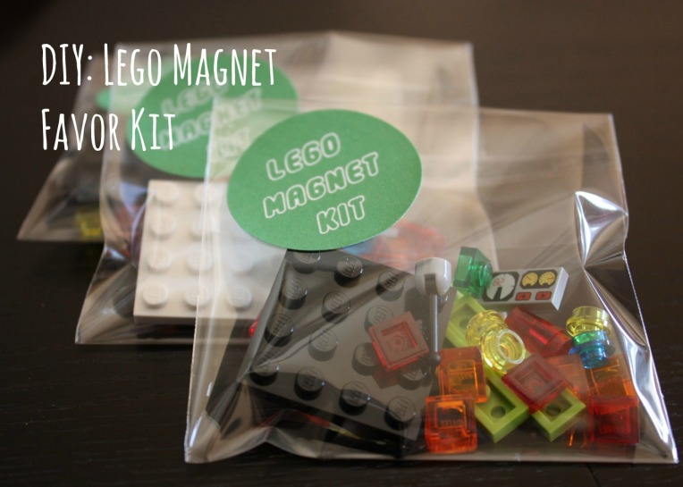 DIY Lego Magnet Favor Kit