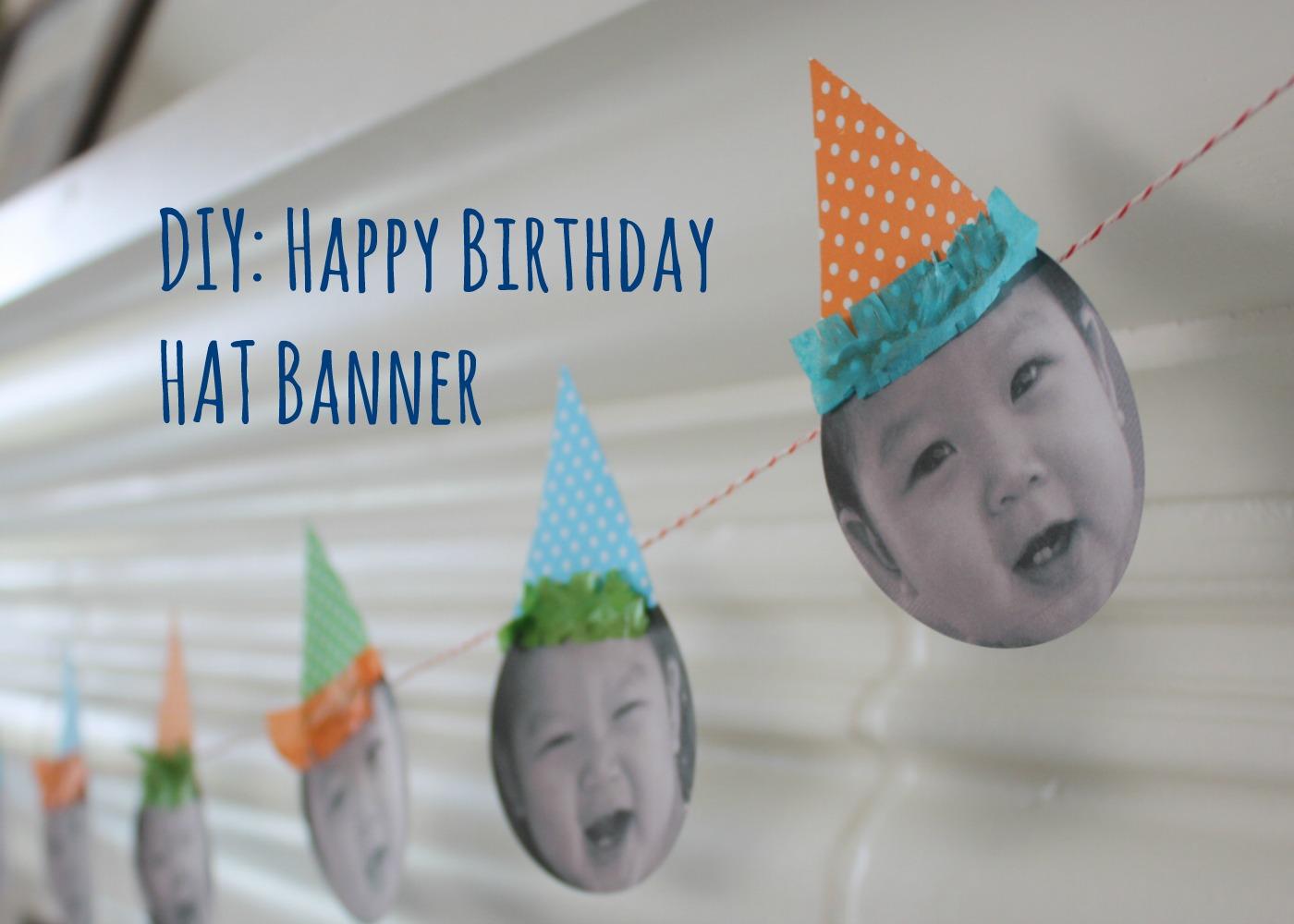 Diy happy birthday hat banner