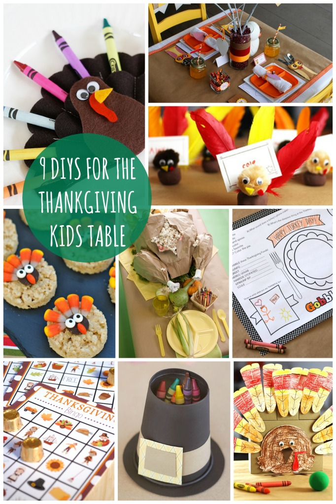 9 DIYs for the Thanksgiving Kids Table