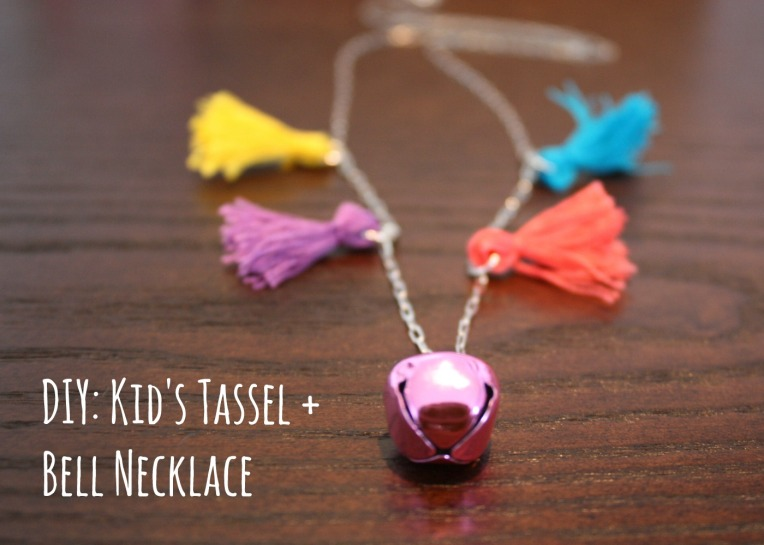 DIY Kids Tassel + Bell Necklace